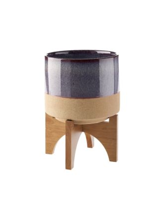 Splendor Purple Planter Pot + Stand 30cm