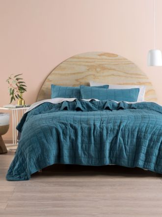 Sunday Teal Coverlet Set