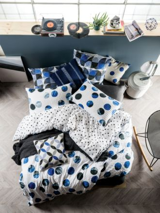 Tika Blue Quilt Cover Set