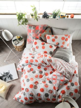 Tika Coral Quilt Cover Set