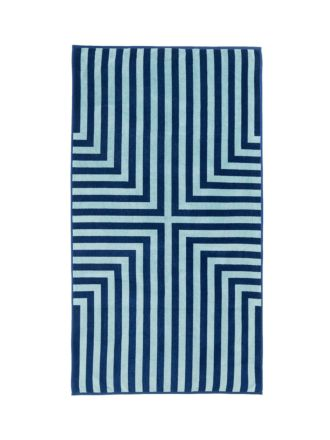 Toby Blue Beach Towel