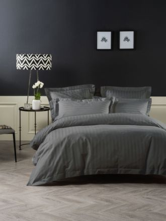 Vaucluse 1000 Thread Charcoal Quilt Cover Set