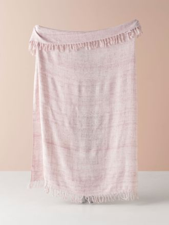 Winterfell Pink Throw