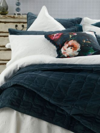 Meeka Indigo Coverlet Set