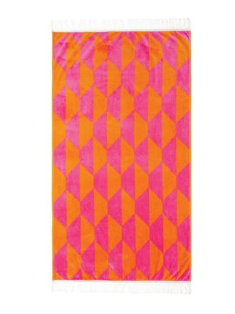 Pave Pink Beach Towel
