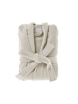Cotton Velour Natural Robe
