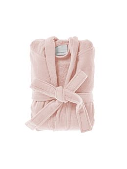 Cotton Velour Pink Robe