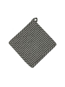 Grey Stripe Pot Holder