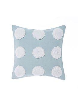 Haze Blue/White Cushion 45x45cm