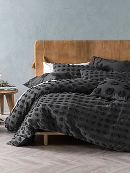 Haze Charcoal Quilt Cover Set