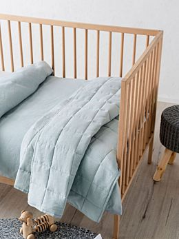 Maddison Blue Cot Coverlet