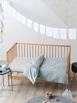 Maddison Blue Cot Quilt Cover