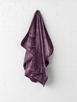 Mink Aubergine Throw