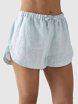 Nimes Blue Linen Pyjama Shorts