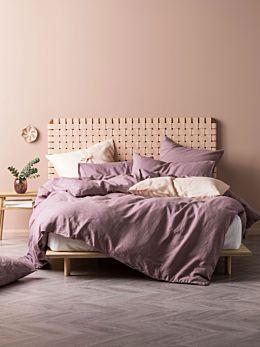 Nimes Elderberry Linen Quilt Cover Set