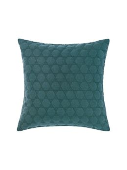 Nimes Teal Linen Cushion 50x50cm