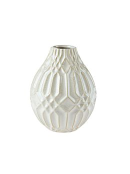 Paco White Vase 19cm