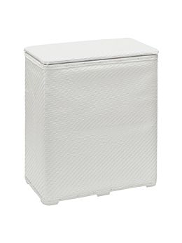 Wicker White Hamper